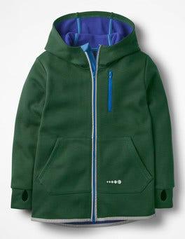 Scots Pine Green Active Zip-up Hoodie