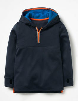 Midnight Blue Active Half-zip Hoodie