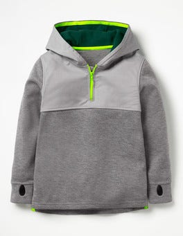 Dark Grey Jaspe Active Half-zip Hoodie