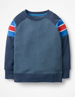 Robot Blue/School Navy Sporty Sweatshirt