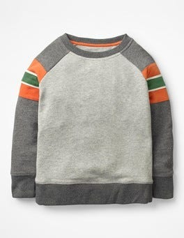 Grey Marl/Charcoal Marl Sporty Sweatshirt