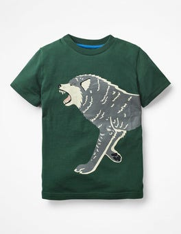 Scots Pine Green Wolf Glow-in-the-dark T-shirt