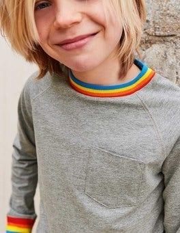 Stripy Rib Raglan T-shirt
