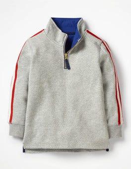 Grey Marl Jaspe Half-Zip Sweatshirt
