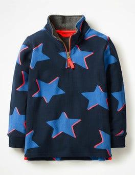 School Navy Shadow Star Half-Zip Sweatshirt