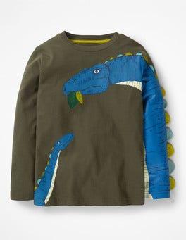 Swamp Green Diplodocus Novelty Creature T-shirt