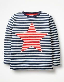 School Navy/Ecru Star Stripy Icon T-shirt