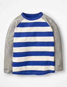 Richie Blue/Ecru Raglan T-shirt