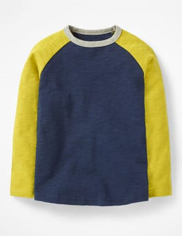 School Navy/Lime Cordial Green Raglan T-shirt
