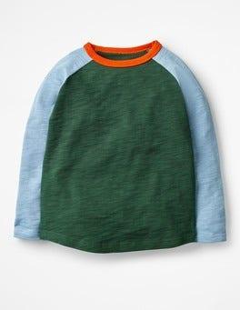 Scots Pine Green/Wren Blue Raglan T-shirt