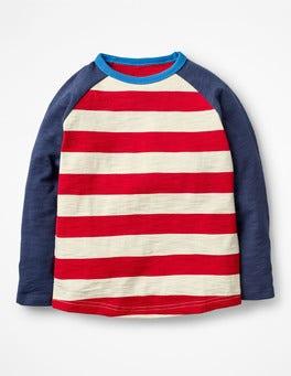 Salsa Red/Ecru Raglan T-shirt