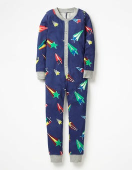 Starboard Blue Superstar Cosy Sleep All-in-one Pajamas