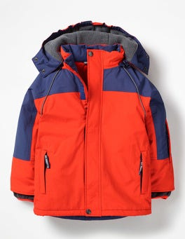 Techno Orange All-weather Waterproof Jacket
