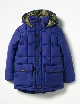 Orion Blue Quilted Parka