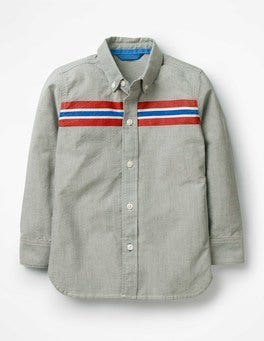 Grey Marl Oxford Sporty Shirt