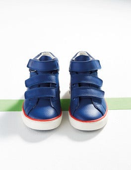 Orion Blue Leather High Tops