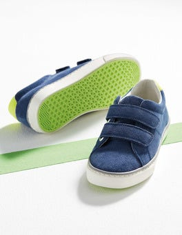 Robot Blue Suede Low Tops