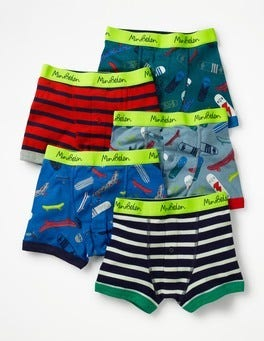 Skateboards 5 Pack Boxers