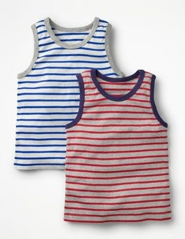 Grey Marl/Salsa Red 2 Pack Tanks