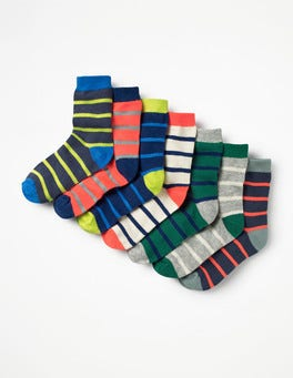 Multi Stripes 7 Pack Sock Box