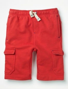 Jam Red Jersey Cargo Shorts