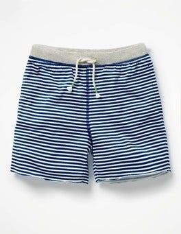 Beacon Blue/Ivory Slub Jersey Shorts