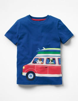 Orion Blue Surf Friends Surf Van T-Shirt