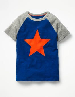 Orion Blue/Grey Marl Starfish Summer Raglan T-shirt