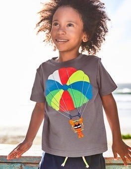 Beach Sports Appliqué T-shirt