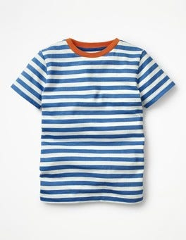 Orion Blue/Ecru Slub Washed T-shirt