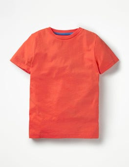 Melon Crush Red Slub Washed T-shirt