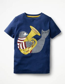 Beacon Blue Seal Animal Orchestra t-shirt