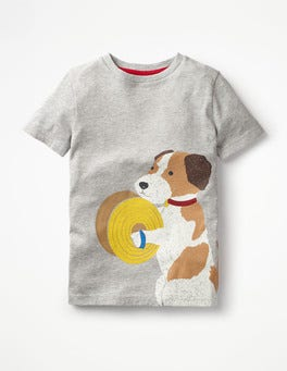 Grey Marl Dog Animal Orchestra t-shirt