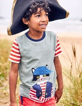 Pet Pirate Appliqué T-shirt