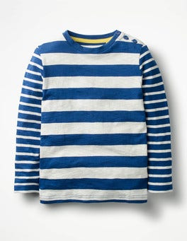 Orion Blue/Ecru Hotchpotch Stripe T-shirt