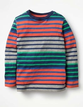 Melon Crush Red/Astro Green Hotchpotch Stripe T-shirt