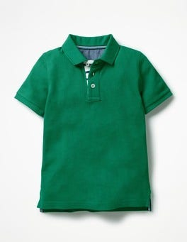 Watercress Green Piqué Polo Shirt
