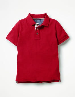 Engine Red Piqué Polo Shirt