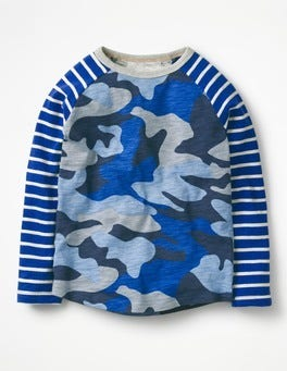 Orion Blue Camo Raglan T-shirt