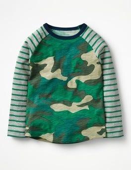Astro Green Camo Raglan T-shirt