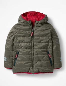 Terrain Green Reversible Puffer Jacket