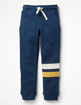 Beacon Blue Sports Stripe Joggers