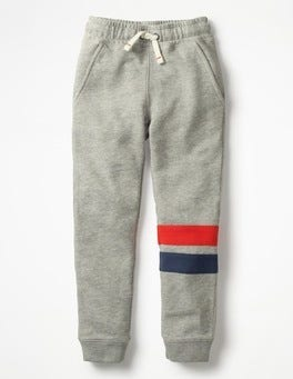 Grey Marl Sports Stripe Joggers
