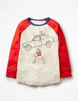 Ecru Strongman Daredevil Raglan T-shirt
