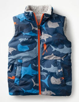 Beacon Blue Shark Dive Reversible Vest