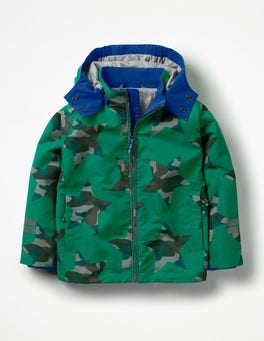 Watercress Green Camo Star Jersey-lined Anorak