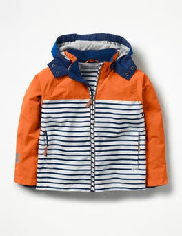 Tangerine Orange Jersey-lined Anorak