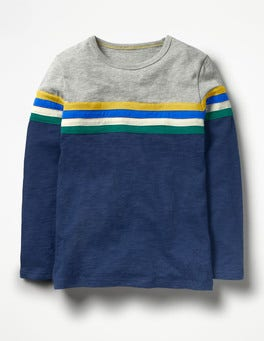 Beacon Blue Sporty Colourblock T-shirt
