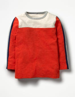Ziggy Red Sporty Colourblock T-shirt
