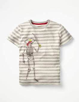 Stripy Embroidered T-shirt